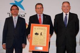 Artur Mas, Víctor Grifols (Grifols) y Salvador Gabarró (Gas Natural Fenosa)