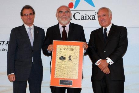 Artur Mas, Jaume Pagès (Universia) y José Miguel Andrés (Ernst&Young).