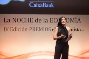 Maite López presentadora de los Premios.