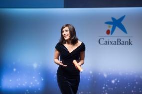 Maite López, presentadora del encuentro.
