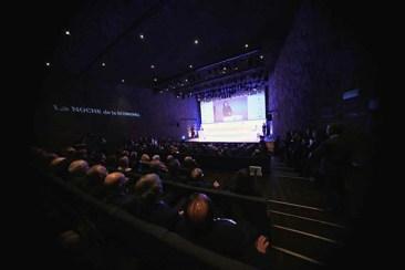 Aspecto que presentaba el auditorio del CaixaForum de Madrid, durante la entrega de los premios de 'La Noche de la Economía'