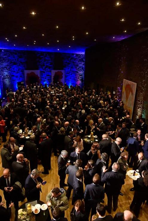 Vista general del cóctel-cena posterior a la entrega de los premios