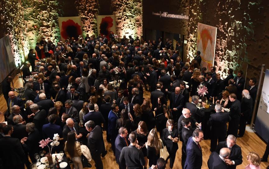 Vista general del salón donde tuvo lugar el cóctel posterior a la entrega de premios.