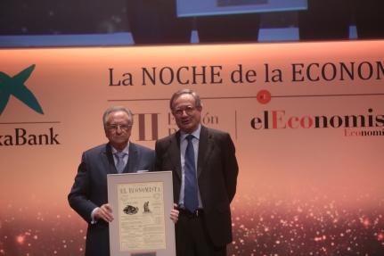 T. Fuertes, presidente de Grupo Fuertes, y R. Villaseca, consejero delegado de Gas Natural Fenosa.