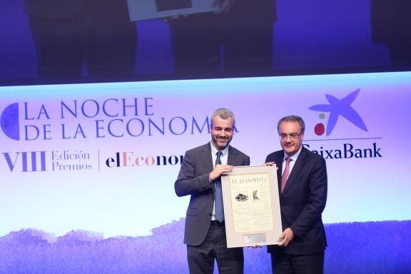 Maurici Lucena, presidente de Aena, y Tobías Martínez, consejero delegado de Cellnex.
