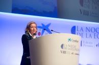 La ministra de Economía y Empresa, Nadia Calviño, clausuró la octava edición de La Noche de la Economía