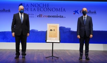 Francisco García, presidente de a Fundación Banco de Alimentos de Madrid y Pedro Larrea, director general de Gestión de la Energía y Redes de Naturgy