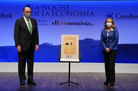 Ignacio Galán, presidente de Iberdrola y Nadia Calviño, vicepresidenta tercera del Gobierno